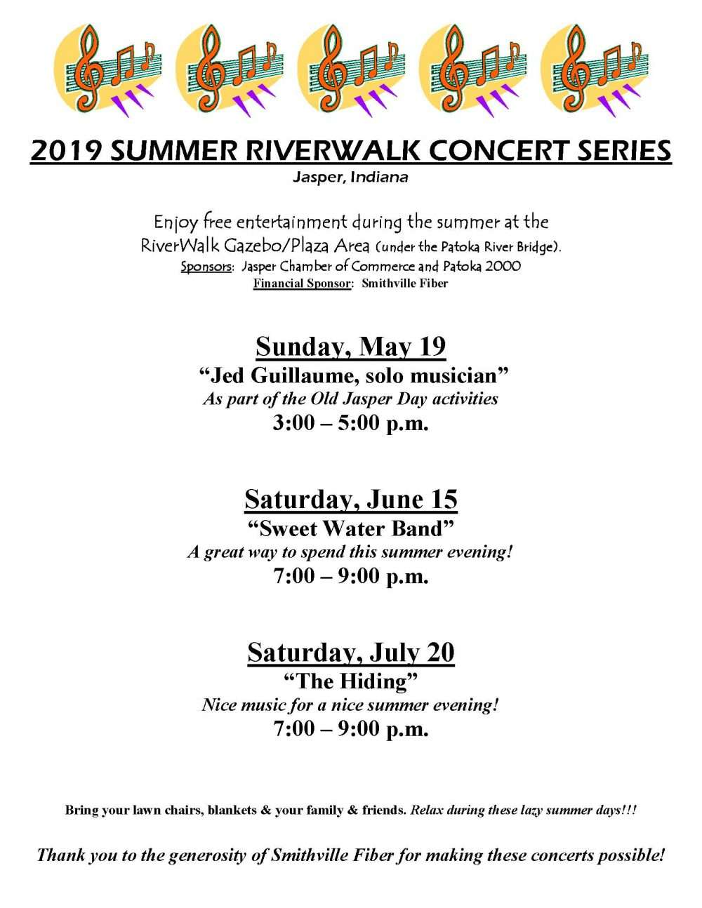 RIVERWALK CONCERT SERIES 2019